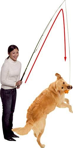 Karlie Hunde Angel Dog Dangler mit Latexspielzeug (Schwein, Hühnchen oder Wurst) 49-165 cm