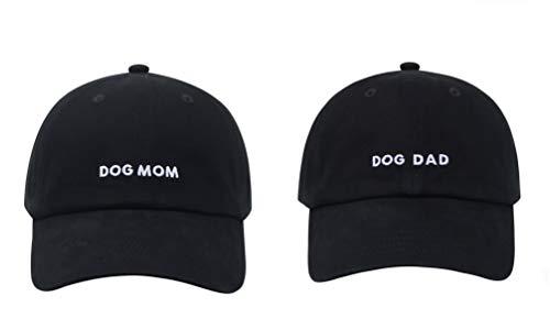 Hatphile Baseballkappe für Hunde, Mütter, Hunde, Papas - Schwarz - Large