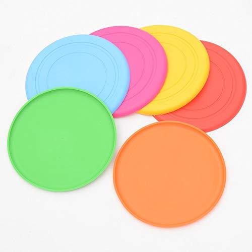 KJDS Hunde-Frisbee, lustige Silikon-Untertasse für Hunde und Katzen, Spielzeug, fliegende Scheiben,...