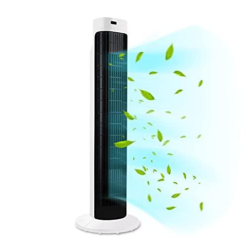 HENGMEI Turmventilator mit Fernsteuerung 70° Oszilation Standventilator Säulenventilator 45W Tower Fan...