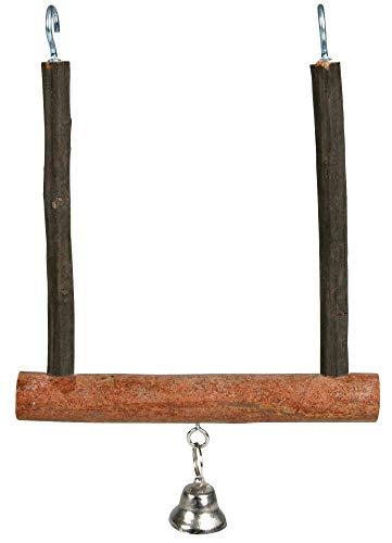 Trixie 5831 Natural Living Trapezschaukel mit Glocke, 12 × 15 cm