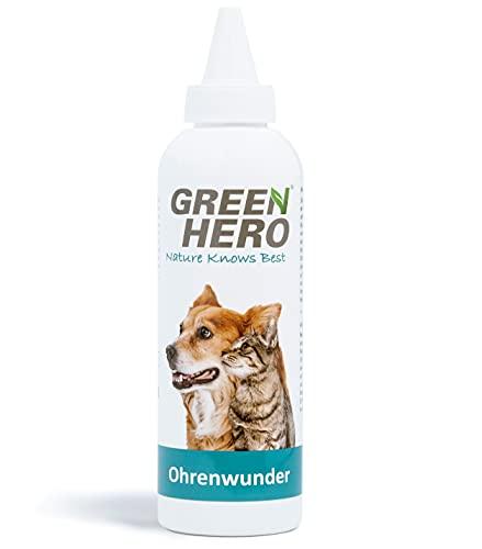 Green Hero Ohrenwunder pflegt das Ohr und unterstützt den Regenerationsprozess bei Ohrmilben Juckreiz...