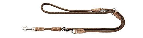 HUNTER Round and Soft Hunting Verstellbare Führleine für Hunde, rund, Leder, weich, robust, 1,0 x 200...