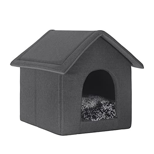 EUGAD 0012GD Hundehaus Hundehütte Katzenhaus Drinnen für kleine mittelgroße Hunde mit herausnehmbarer...