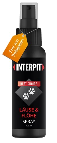 Interpit LÄUSE & FLÖHE Spray, Hochwirksam & gut duftendes Naturprodukt für Haustiere - Milben +...