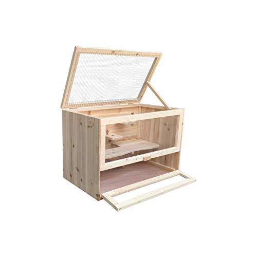 MYPETS - Pauli XL Holz Käfig für Nager 60 x 35 x 42cm - Nagerkäfig für Hamster, Chinchilla, Mäuse...