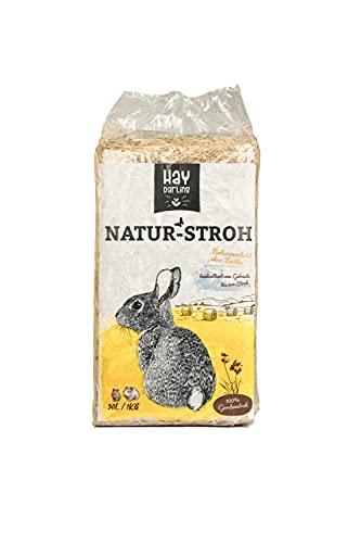 haydarling - Gerstenstroh Einstreu fürs Nagerheim - in praktischen 1kg Beuteln (6 KG)