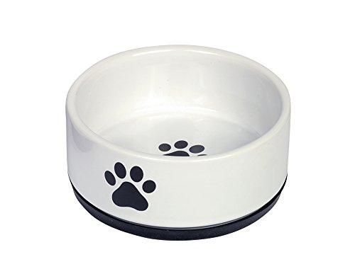 Nobby Keramik Napf 'Paw' schwarz/weiß Ø 14 x 6,5 cm