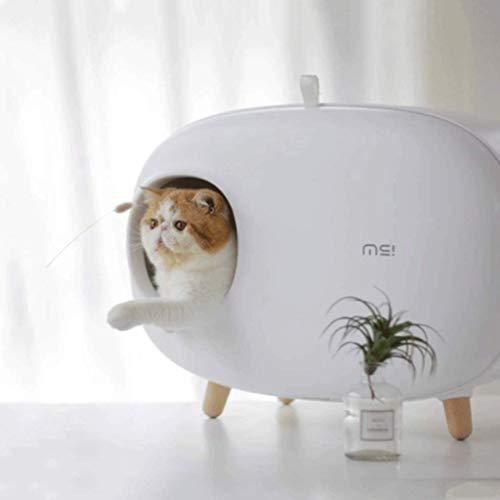 HYX Selbstreinigende Katzentoilette Wiederverwendbare Deodorant Spritzwassergeschütztes Katzentoilette...
