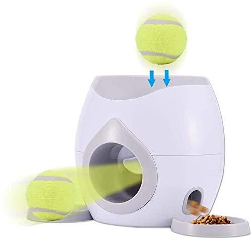 Qiusa Automatischer Haustier-Ballwerfer für Hunde, interaktives Apportier-Spielzeug, Haustier-Ballwerfer...