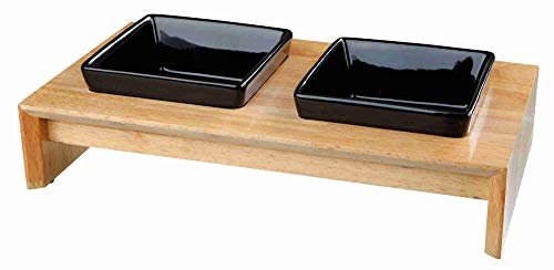 Set iß. cerámicamadera, 2× 0.4L, 36× 19× 7cm, Schwarz