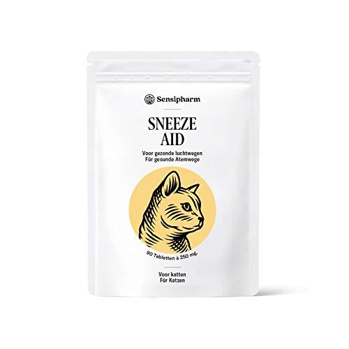 Sensipharm Sneeze Aid - Hilft Natürlich bei Katzenschnupfen und Niesen - 90 Tabletten a 250 mg. für...