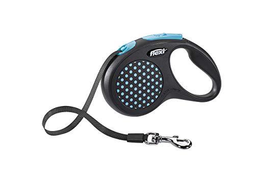 flexi Design S Gurt 5 m blau für Hunde bis 15 kg