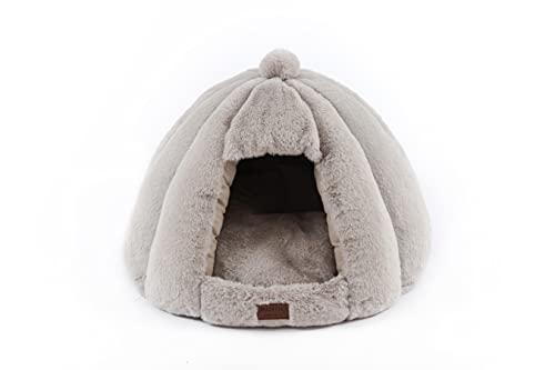 RAIKOU warm kuschlig Haustierhaus Hundehöhle Hundebett, Katzenhöhle, Katzenhaus, Haustier Nest für...