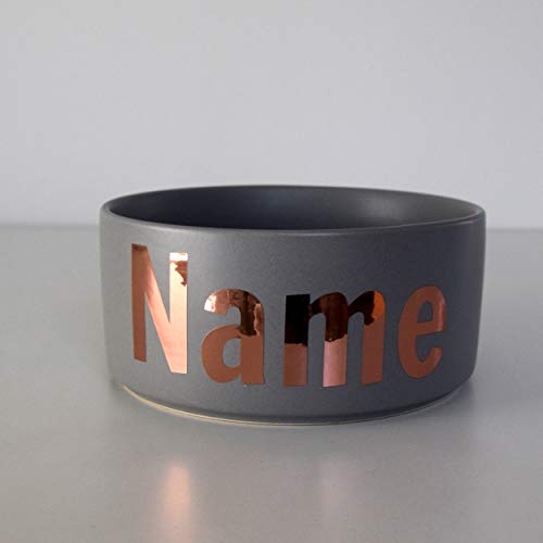 Paw Companion Futternapf Napf Wassernapf Keramik für Hunde, Katzen, Haustiere mit Namen oder Wunschtext...
