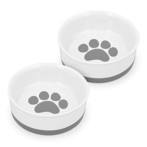 Navaris 2X Hundenapf Futternapf Fressnapf - Futterschüssel Napf Set für Hunde Katzen - Näpfe mit...