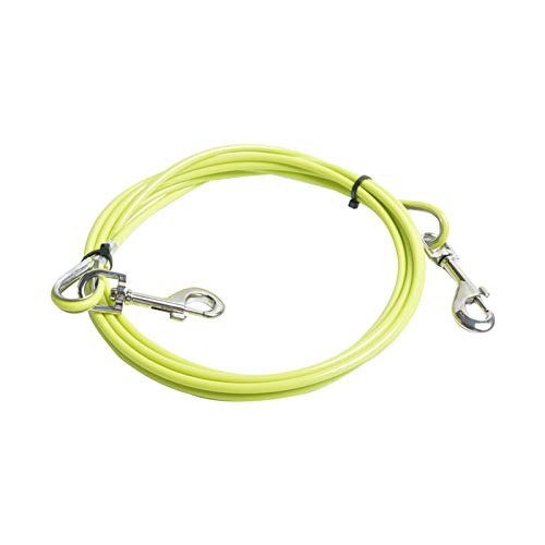 ZHAOLU Hundeleine zum Ausbinden von Kabeln Pet Tie Out Cable for Dogs Steel Wire Leash Rope Heavy Duty...