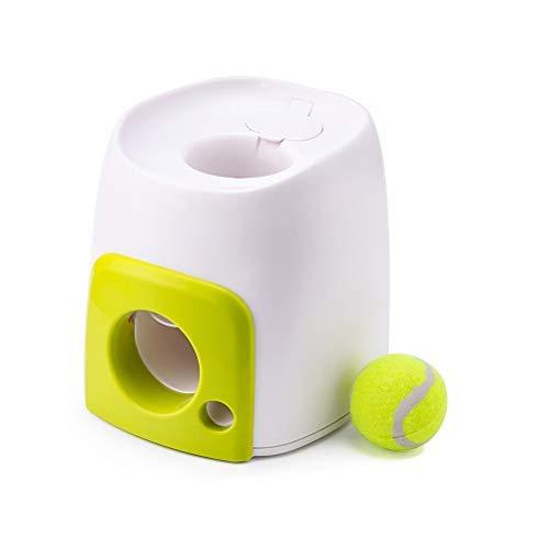 Delaspe Hundeballwerfer Hundetraining Interaktives Automatisches Ballwerfen Spielzeug für drinnen und...