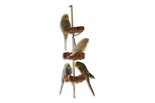 Kork Knabberseil - das perfekte Wellensittich Spielzeug und Vogelzubehör zum Klettern und Nagen |...