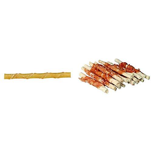 Trixie 2617 Kaurollen, gedreht, 12 cm/ø 9–10 mm, 100 St. & 31378 Denta Fun Chicken Chewing Rolls, 12...