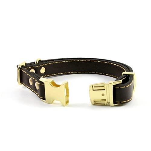 ZZCR Hundehalsband Leder Teddy Welpenhalsband Großes Und Mittelgroßes Hundehalsband Golden Retriever...