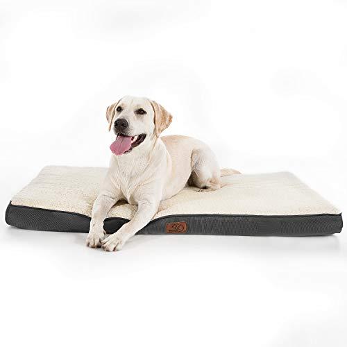 Bedsure Hundekissen/Hundematratze für kleine mittlere große Hunde, eierförmiger Kistenschaum...