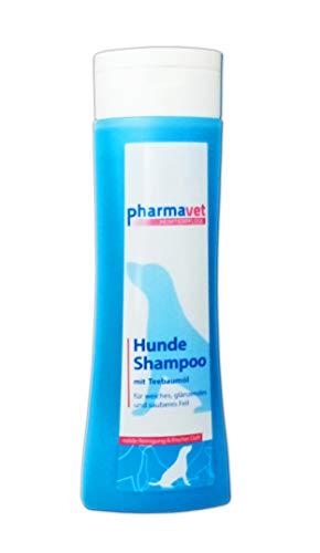 Pharmavet HUNDESHAMPOO 300ml mit Teebaumöl Hunde Shampoo Fellpflege Pflege Welpenshampoo Fell Spülung...