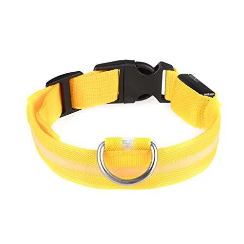 YXDS Haustierbedarf Leuchthalsband für Hunde Wiederaufladbares Led-Halsband Teddy Golden Retriever...