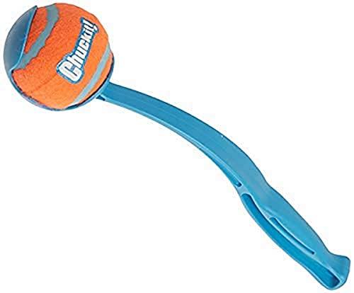 Chuckit! Sporthundeball-Taschenwerfer; Hands Free Pick Up and Throw Play; Tennisball- und...