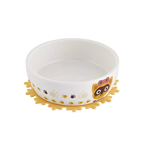 N-B Dog Feeders Bowl, Cartoon Pattarn für rutschfeste Keramik Single Mouth Dog Bowl Hochwertige Antiskid...