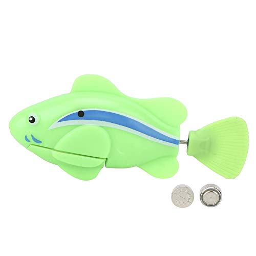 stronerliou Plastic Pet Cute Elektrische Induktion Schwimmen Simulation Fisch Wasserspielzeug für Hunde...