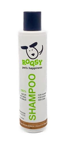ROQSY Natur Hundeshampoo vegan Naturshampoo 200ml für Hunde Aller Rassen, Größen und Fellfarben; gegen...