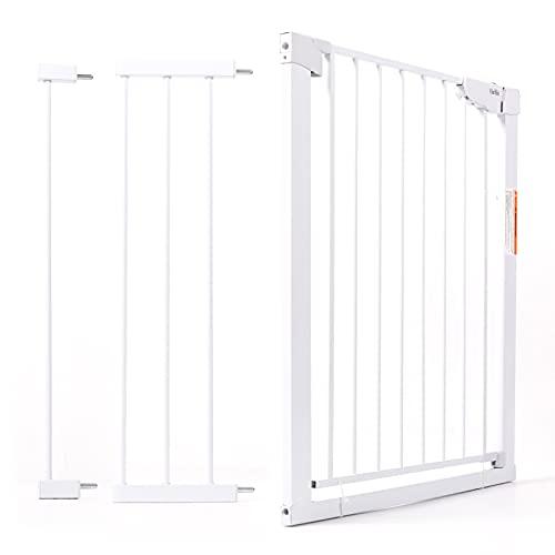 OlarHike Treppenschutzgitter für Kinder, Selbstschließendes Türschutzgitter zum Klemmen -...