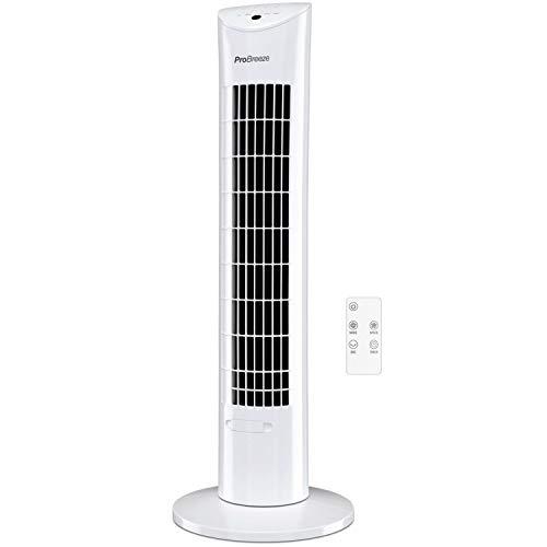 Pro Breeze™ Oszillierender Turmventilator, 79 cm Höhe, 70 Grad Oszillation, Säulenventilator mit 3...