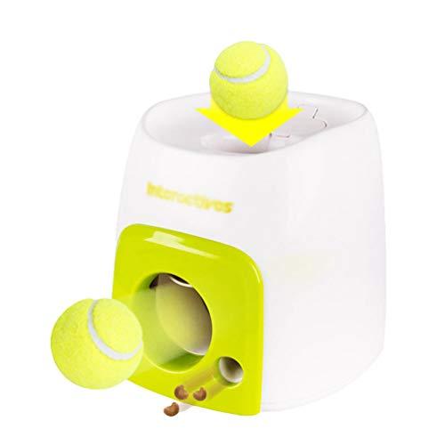 Mengyu Intelligenzspielzeug Ballmaschine für Hunde, Interaktives Spielzeug Automatischer Ballwerfer...