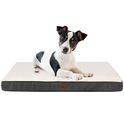 Juskys Hundebett Milow M orthopädisch - 76x51 cm - Hundekissen flauschig & formstabil - Bezug abnehmbar...