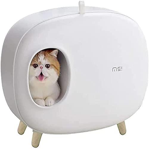 MOME WeißDie Katzentoilette mit Katzenstreuschaufel kann die Handhabung von Katzenstreu vereinfachen,...