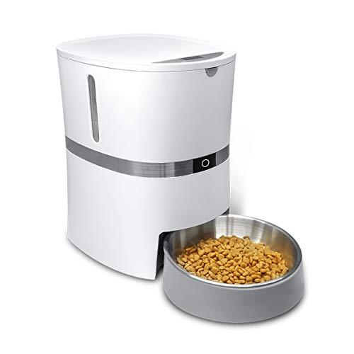 honeyguaridan A36 Automatischer Futterautomat für Hunde und Katzen mit Edelstahl Futterschüssel,...