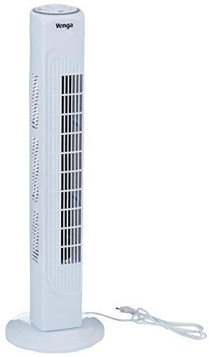 Venga! VG VT 3001 3-stufiger, oszillierender Turmventilator, 80cm, 45W - Weiß