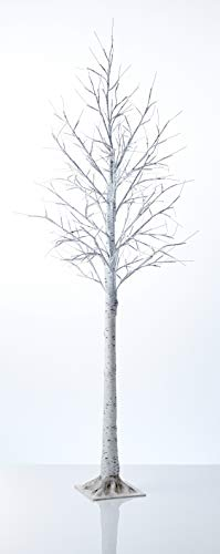 Northpoint LED Lichtbaum für Indoor & Outdoor | Birkenoptik | 180cm | 200 warmweiße LEDs | inkl. Timer