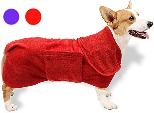 GZGZADMC Badetuch Hund Bademantel, Hundebademantel aus Mikrofaser, Badetuch Hund Bademantel für Kleine...