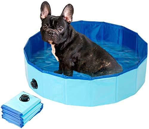 Sweetypet Pool: Faltbarer Hundepool mit rutschfestem Boden & Ablassventil, 80 x 20 cm (Planschbecken)
