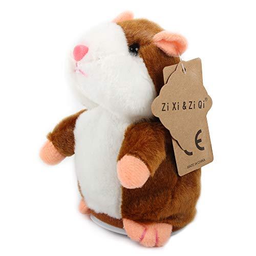 Talking Hamster Plüschtier, wiederholen Sie, was Sie sagen Lustige Kinder Stofftiere, Talking Record...