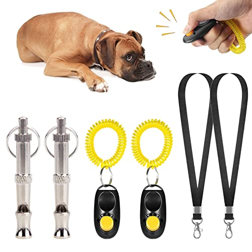 Yyshyi Hundepfeife und Hundeklicker, Hunde Clicker, Professionelle Hund Training Ultraschall Pfeife mit...