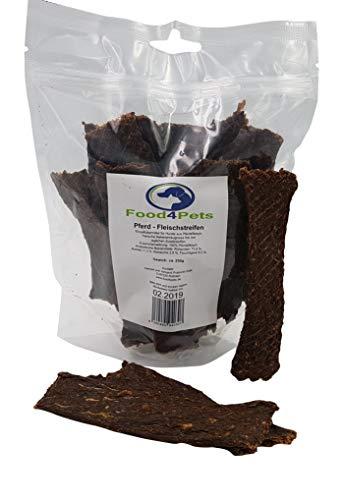 Food4Pets Fleischstreifen für Hunde aus Pferdefleisch 250g – leckere Kaustreifen für ihren Hund
