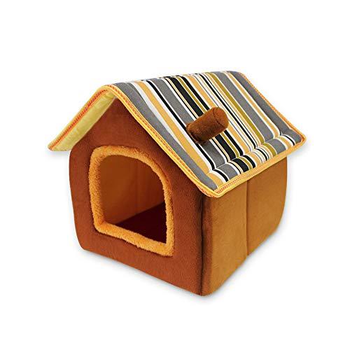 SONGWAY Haustierhaus für Katzen, Welpen, Hasen und Kleintiere – Winterfest Weiche Hundehütte,...