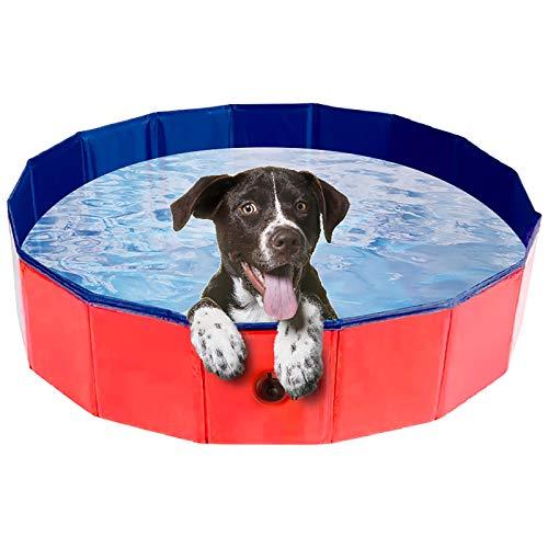 Karanice Hundepool Haustierpool Faltbare Hunde Pools für Hunde und Kinder Badewanne Doggy Pool 80x20CM...