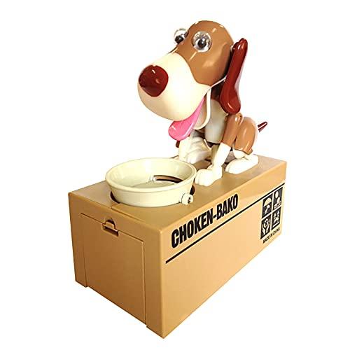 Cute Choken Bako Welpen Hungrig Essen Hund Münze Bank, Doggy Coin Bank, Hund Piggy Bank, Geld Sparen...