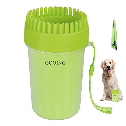 GOOIN Hundepfoten Reiniger 004 New Hunde Pfote Reiniger Haustier Pfotenreiniger mit Handtuch Dog Paw...