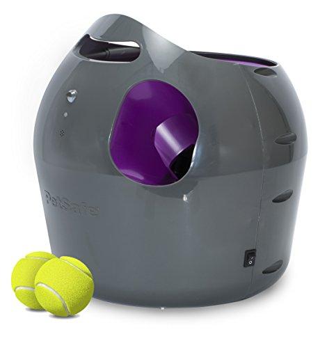 PetSafe Automatischer Ballwerfer, interaktive Ballwurfmaschine, wetterresistent, Sicherheitssensoren, mit...